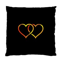 Heart Gold Black Background Love Standard Cushion Case (one Side) by Nexatart