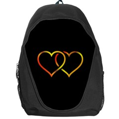 Heart Gold Black Background Love Backpack Bag by Nexatart