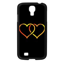 Heart Gold Black Background Love Samsung Galaxy S4 I9500/ I9505 Case (black) by Nexatart