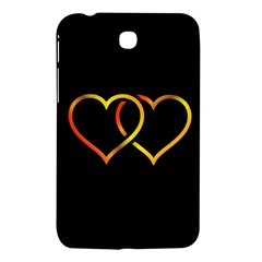 Heart Gold Black Background Love Samsung Galaxy Tab 3 (7 ) P3200 Hardshell Case  by Nexatart