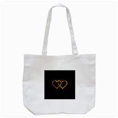 Heart Gold Black Background Love Tote Bag (white)