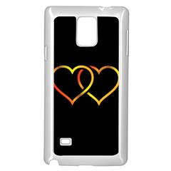 Heart Gold Black Background Love Samsung Galaxy Note 4 Case (white)