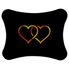 Heart Gold Black Background Love Jigsaw Puzzle Photo Stand (bow) by Nexatart