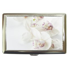 Orchids Flowers White Background Cigarette Money Cases by Nexatart