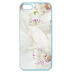 Orchids Flowers White Background Apple Seamless Iphone 5 Case (color)