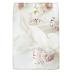 Orchids Flowers White Background Flap Covers (l)