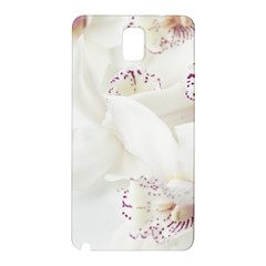 Orchids Flowers White Background Samsung Galaxy Note 3 N9005 Hardshell Back Case by Nexatart