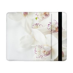 Orchids Flowers White Background Samsung Galaxy Tab Pro 8 4  Flip Case