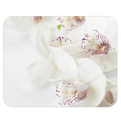 Orchids Flowers White Background Double Sided Flano Blanket (medium)  by Nexatart