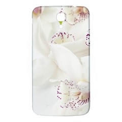 Orchids Flowers White Background Samsung Galaxy Mega I9200 Hardshell Back Case by Nexatart