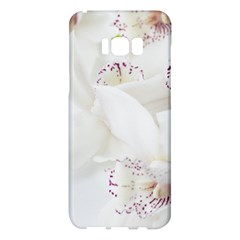 Orchids Flowers White Background Samsung Galaxy S8 Plus Hardshell Case  by Nexatart
