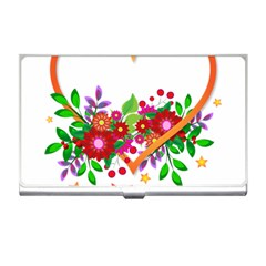 Heart Flowers Sign Business Card Holders by Nexatart