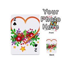 Heart Flowers Sign Playing Cards 54 (mini)  by Nexatart
