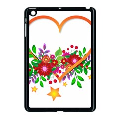 Heart Flowers Sign Apple Ipad Mini Case (black) by Nexatart