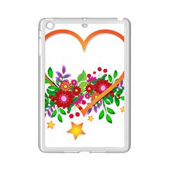 Heart Flowers Sign Ipad Mini 2 Enamel Coated Cases