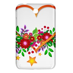 Heart Flowers Sign Samsung Galaxy Tab 3 (7 ) P3200 Hardshell Case  by Nexatart