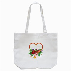 Heart Flowers Sign Tote Bag (white) by Nexatart