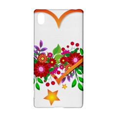 Heart Flowers Sign Sony Xperia Z3+ by Nexatart