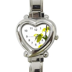 Leaves Nature Heart Italian Charm Watch by Nexatart