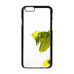 Leaves Nature Apple Iphone 6/6s Black Enamel Case by Nexatart