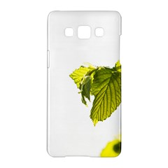 Leaves Nature Samsung Galaxy A5 Hardshell Case  by Nexatart