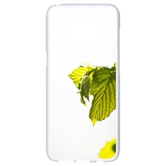 Leaves Nature Samsung Galaxy S8 White Seamless Case by Nexatart