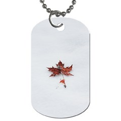 Winter Maple Minimalist Simple Dog Tag (two Sides)