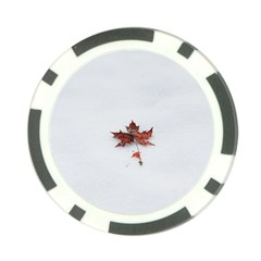 Winter Maple Minimalist Simple Poker Chip Card Guard by Nexatart