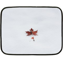 Winter Maple Minimalist Simple Double Sided Fleece Blanket (mini)