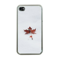Winter Maple Minimalist Simple Apple Iphone 4 Case (clear) by Nexatart