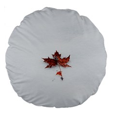 Winter Maple Minimalist Simple Large 18  Premium Round Cushions by Nexatart