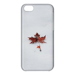 Winter Maple Minimalist Simple Apple Iphone 5c Hardshell Case by Nexatart
