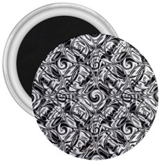 Gray Scale Pattern Tile Design 3  Magnets by Nexatart