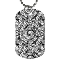 Gray Scale Pattern Tile Design Dog Tag (one Side) by Nexatart