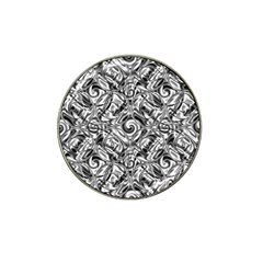 Gray Scale Pattern Tile Design Hat Clip Ball Marker by Nexatart