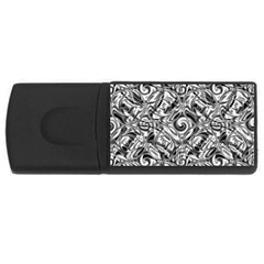 Gray Scale Pattern Tile Design Usb Flash Drive Rectangular (4 Gb)