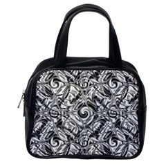 Gray Scale Pattern Tile Design Classic Handbags (one Side) by Nexatart