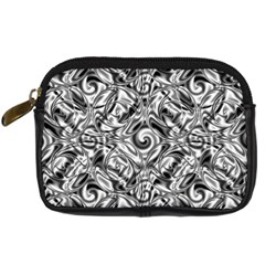 Gray Scale Pattern Tile Design Digital Camera Cases