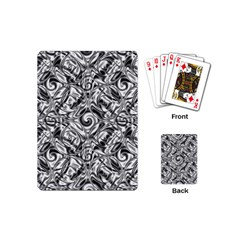 Gray Scale Pattern Tile Design Playing Cards (mini)