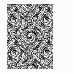 Gray Scale Pattern Tile Design Large Garden Flag (two Sides)