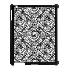 Gray Scale Pattern Tile Design Apple Ipad 3/4 Case (black) by Nexatart