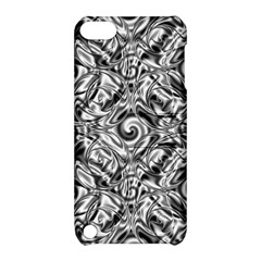Gray Scale Pattern Tile Design Apple Ipod Touch 5 Hardshell Case With Stand by Nexatart