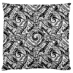 Gray Scale Pattern Tile Design Large Flano Cushion Case (two Sides) by Nexatart