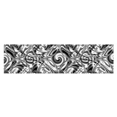 Gray Scale Pattern Tile Design Satin Scarf (oblong)