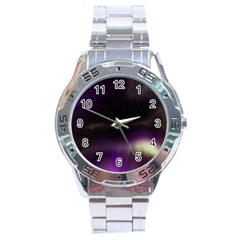 The Northern Lights Nature Stainless Steel Analogue Watch by Nexatart