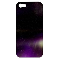 The Northern Lights Nature Apple Iphone 5 Hardshell Case by Nexatart