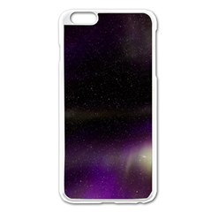 The Northern Lights Nature Apple Iphone 6 Plus/6s Plus Enamel White Case by Nexatart