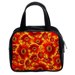 Gerbera Flowers Nature Plant Classic Handbags (2 Sides) by Nexatart