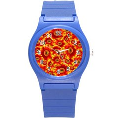 Gerbera Flowers Nature Plant Round Plastic Sport Watch (s) by Nexatart