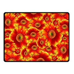 Gerbera Flowers Nature Plant Double Sided Fleece Blanket (small)